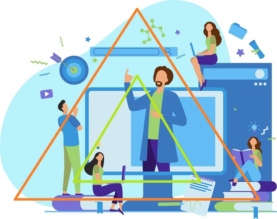 différence entre triangle didactique et triangle pédagogique